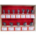 Набор фрез для кромочно-петлевого фрезера от 10 - 22 мм (12 шт.)
